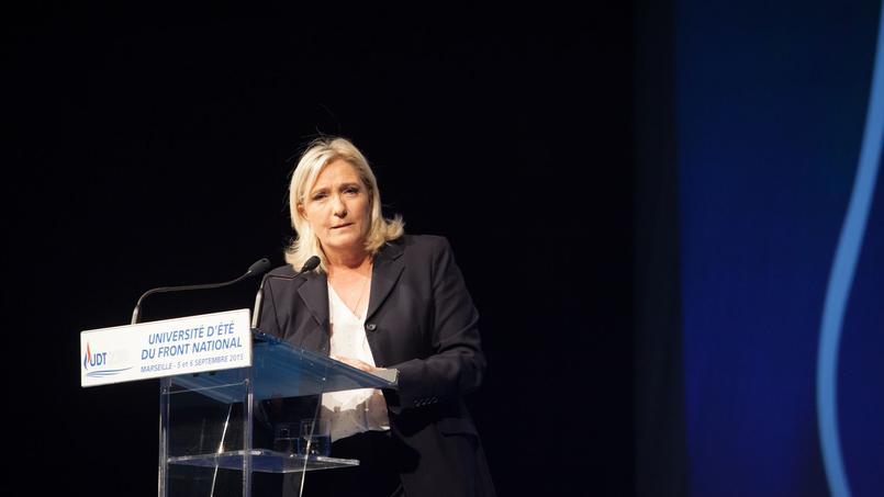 Marine Le Pen à Marseille, le 6 septembre 2015.