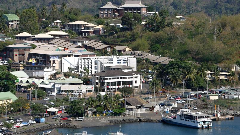 Une vue de Mamoudzou, la préfecture du département de Mayotte
