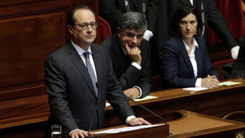 François Hollande devant le Congrès.