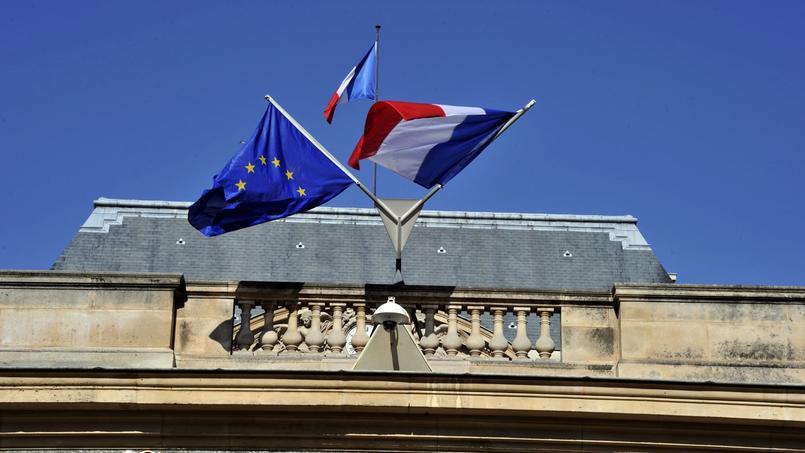 L'entrée principale du Conseil d'État, à Paris.
