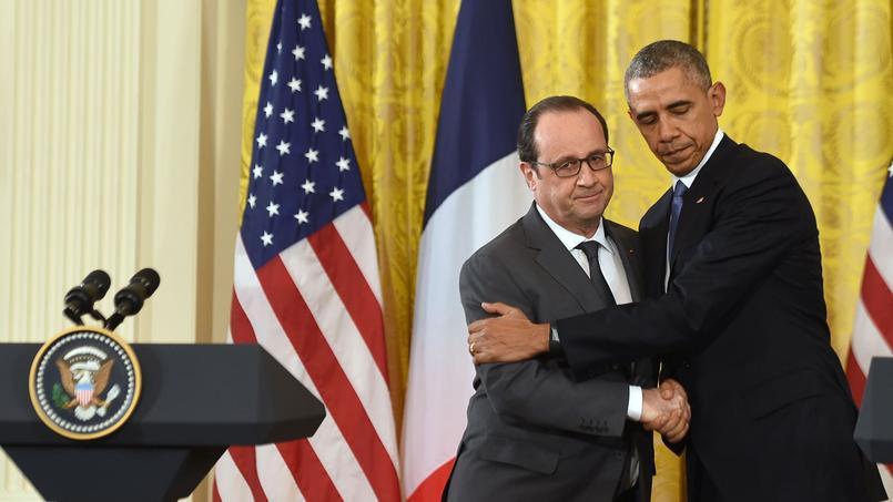 François Hollande et Barack Obama dans le Bureau ovale de la Maison-Blanche, mardi à Washington.
