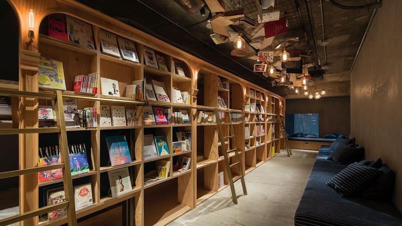 Le premier grand Books & Bed (140 m²) dans le quartier nord-ouest de la capitale nippone.