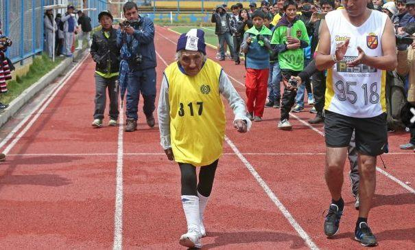 María Victoria Rivera Bustamante en termine avec les 42 kilomètres du marathon.