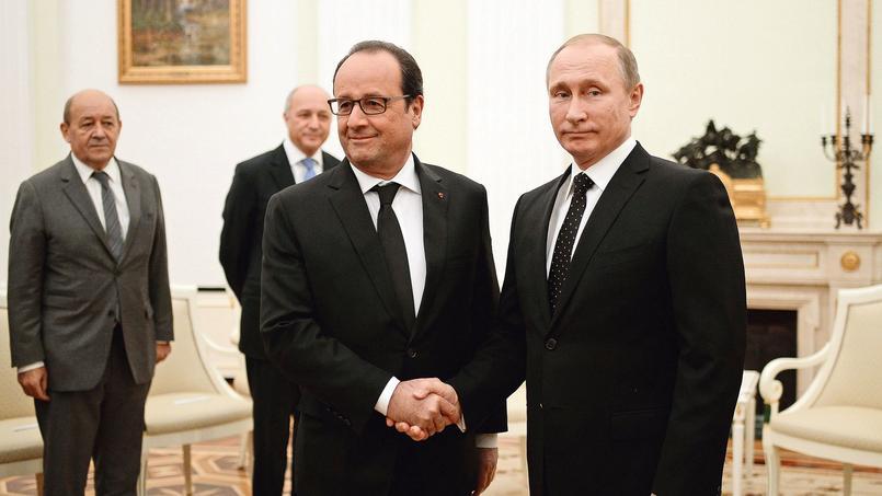 Francois Hollande et Vladimir Poutine, jeudi, au Kremlin.