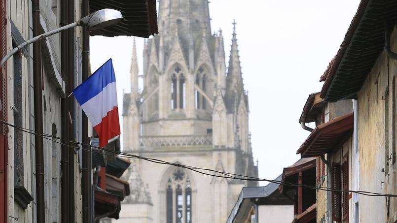 Drapeau français à Bayonne