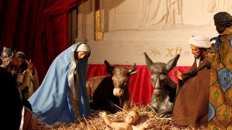La crèche de la paroisse Sainte -Clotilde à Paris. Photo: Jean-Christophe Marmara- le Figaro