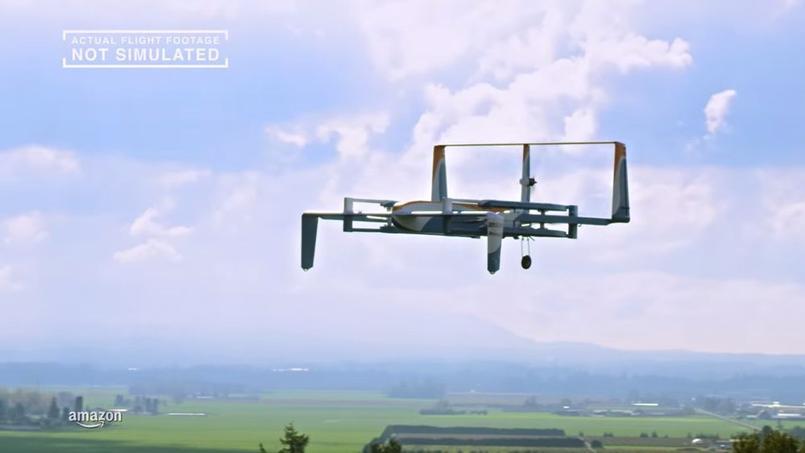 Amazon dévoile un prototype de drone capable de livrer des colis