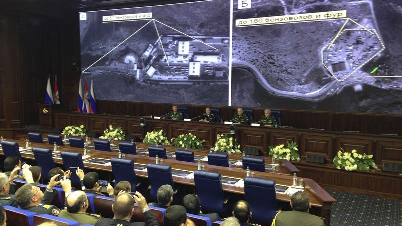 Le 24 novembre, le ministère de la Défense russe, a produit des images satellites censées montrer la réalité du trafic pétrolier noué entre l'EI et Ankara.