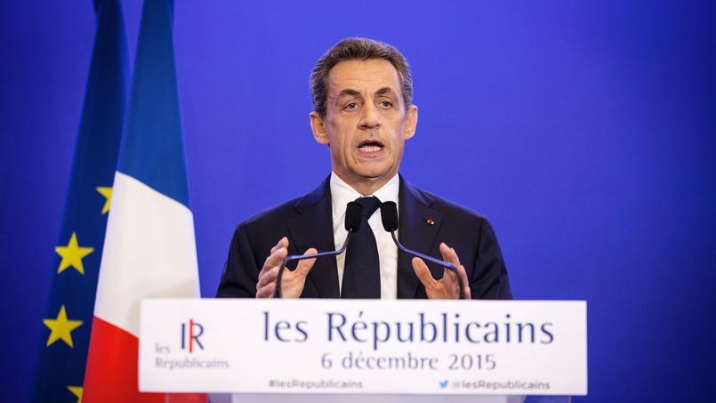 Discours de Nicolas Sarkozy dimanche 6 décembre, au soir du premier tour des régionales.