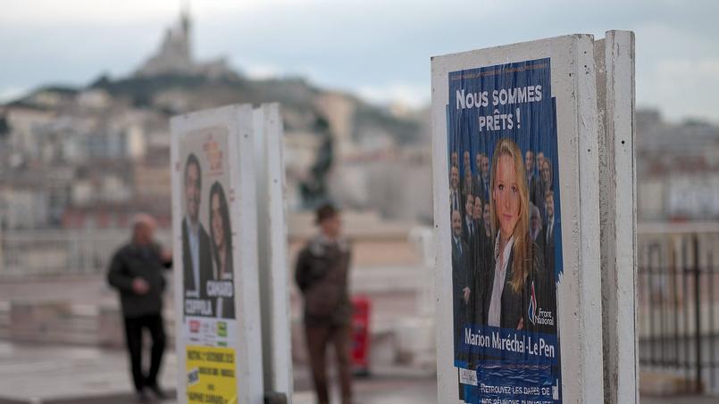 Affiches de campagne des élections régionales en PACA