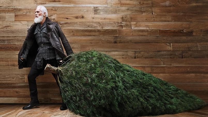 Campagne publicitaire «Fashion Santa» du Yorkdale Mall.