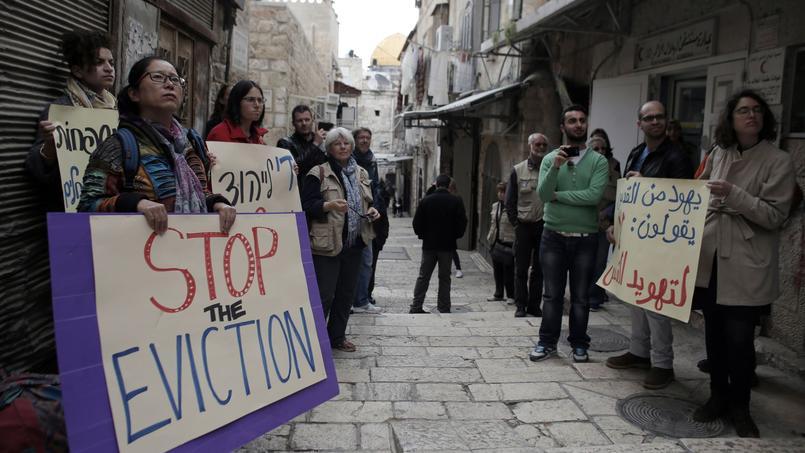En mars dernier, une manifestation de soutien à la famille Sub Laban s'est déroulée dans les rues de la Vieille ville de Jérusalem.