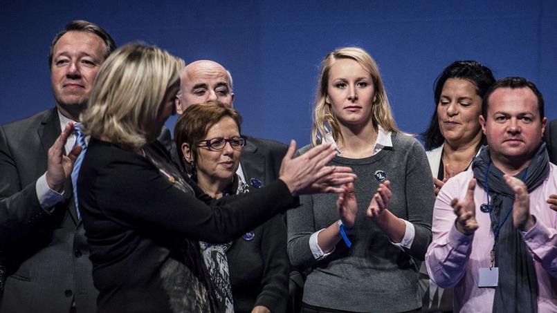 Christophe Boudot, Marine Le Pen et Marion-Maréchal-Le Pen