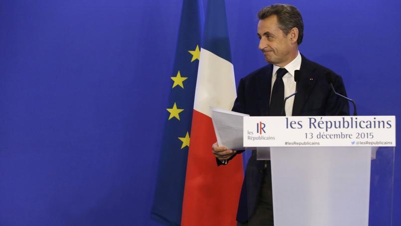 Nicolas Sarkozy dimanche juste après l'annonce des résultats des régionales