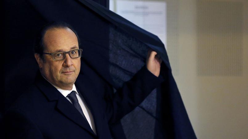 Le chef de l'État s'est rendu à Tulle, en Corrèze, pour voter dimanche matin.
