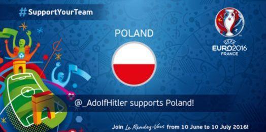 «Soutien» d'Adolf Hitler à la Pologne : le gros couac du compte Twitter de l'UEFA