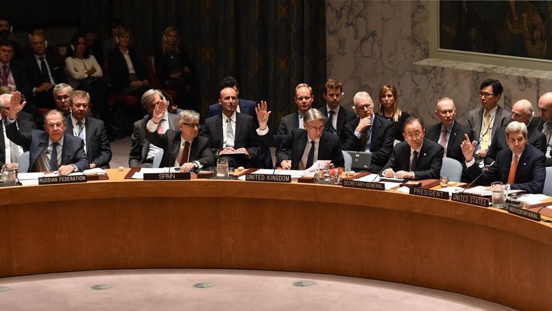 New York, vendredi 18 décembre. Le Conseil de sécurité de l'ONU a adopté à l'unanimité une résolution soutenant un plan de paix pour la Syrie.