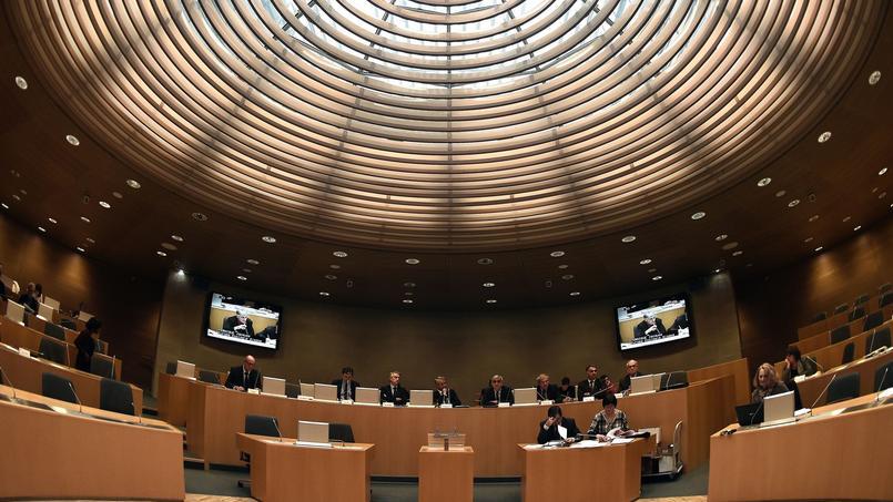À Strasbourg, le conseil régional d'Alsace.