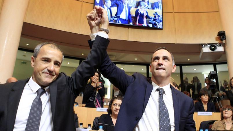 Jean-Guy Talamoni et Gilles Simeoni, responsables nationalistes corses
