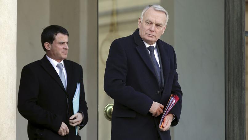 Manuel Valls et l'ancien premier ministre Jean-Marc Ayrault.