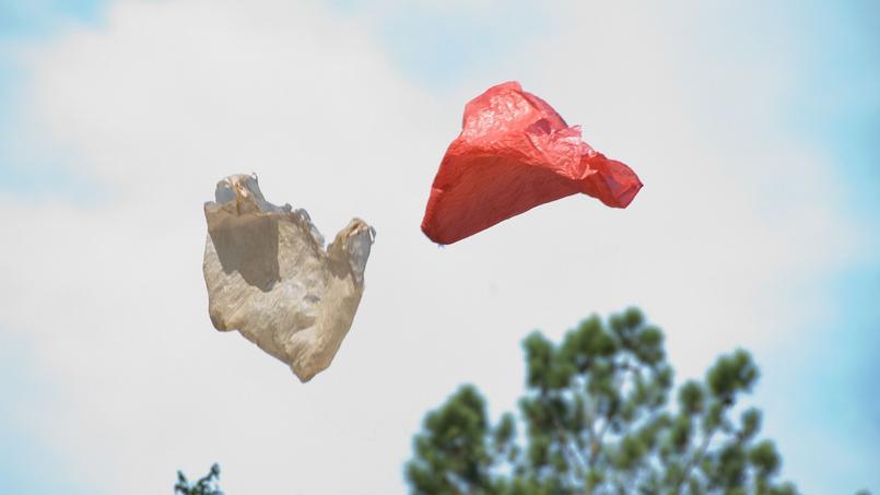 Les commerçants étaient autorisés à distribuer les sacs en plastique concernés par l'interdiction, pour écouler leur stock, jusqu'au 1er juillet 2016. Crédit: flickr/Ars Electronica