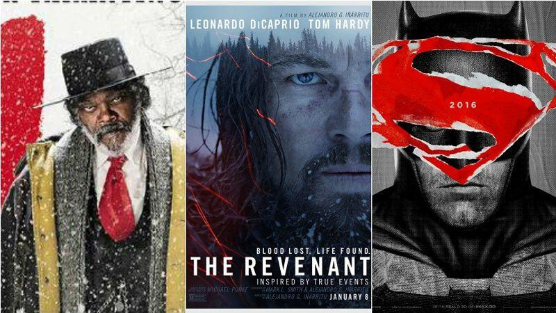 Les Huit Salopards,  The Revenant, et Batman V Superman font partie des films très attendus en 2016.