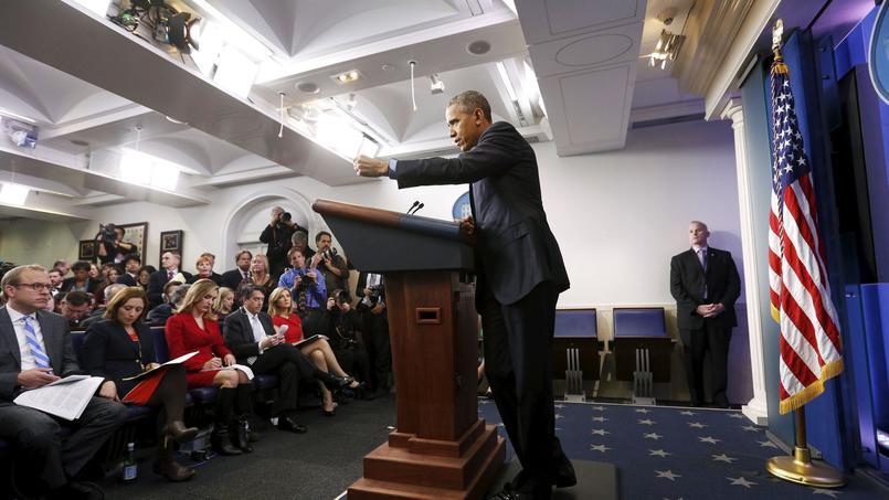 Barack Obama, lors de sa conférence de fin d'année, le 18 décembre 2015.