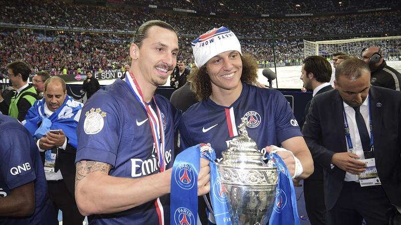 Zlatan Ibrahimovic et David Luiz ont remporté la Coupe de France 2015 avec le Paris SG.