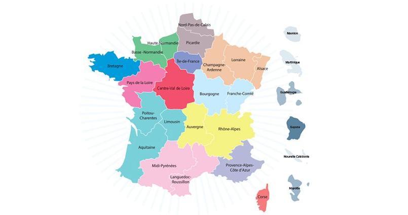 La nouvelle carte de France comprend 13 régions plus équilibrées démographiquement et économiquement.
