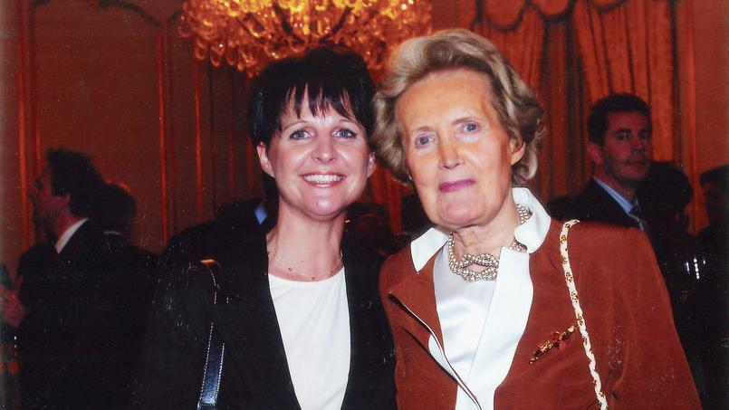 Arlette de La Loyère (à droite) est décédée le 29décembre, à 88 ans.
