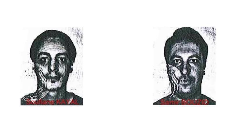Les portraits des deux suspects.