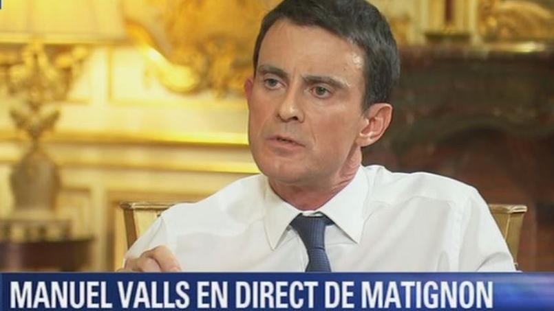 Manuel Valls, premier ministre, à Matignon