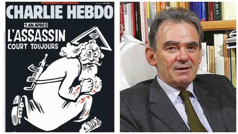 La une de Charlie Hebdo du mercredi 6 janvier / L'historien François Boespflug