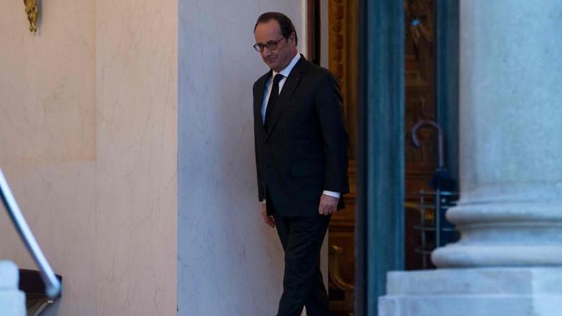 François Hollande, le 5 janvier au soir à l'Élysée.