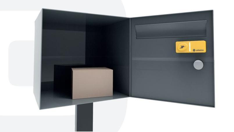 Le bouton de La Poste, placé dans la boîte aux lettres.