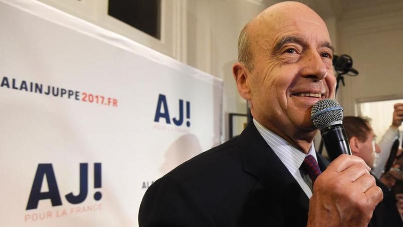 Le maire de Bordeaux, lors de l'inauguration de son QG de campagne, boulevard Raspail (VIIe)