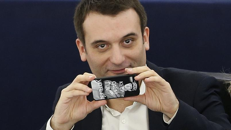 Florian Philippot lors d'une séance au Parlement européen