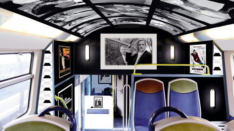 Les voyageurs qui empruntent la ligne D reliant Melun à Creil, pourront découvrir dans leur train les affiches et les photos des stars qui ont marqué l'histoire du cinéma.