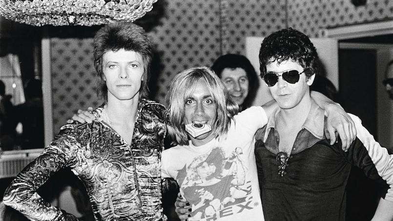 De gauche à droite, David Bowie, Iggy Pop et Lou Reed.