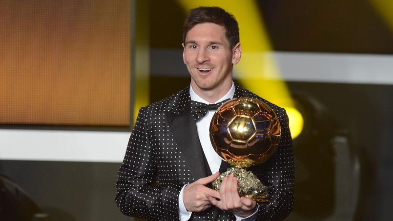 Lionel Messi lors de la remise du Ballon d'Or en 2012.