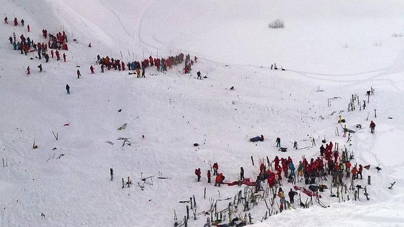 L'avalanche s'est produite ce mercredi vers 16 heures aux Deux Alpes (Isère).