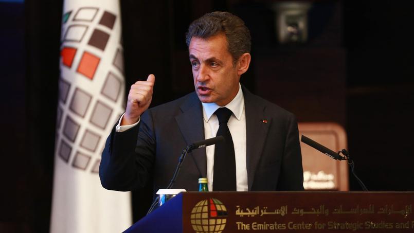 Nicolas Sarkozy, à Abu Dhabi ce mercredi.