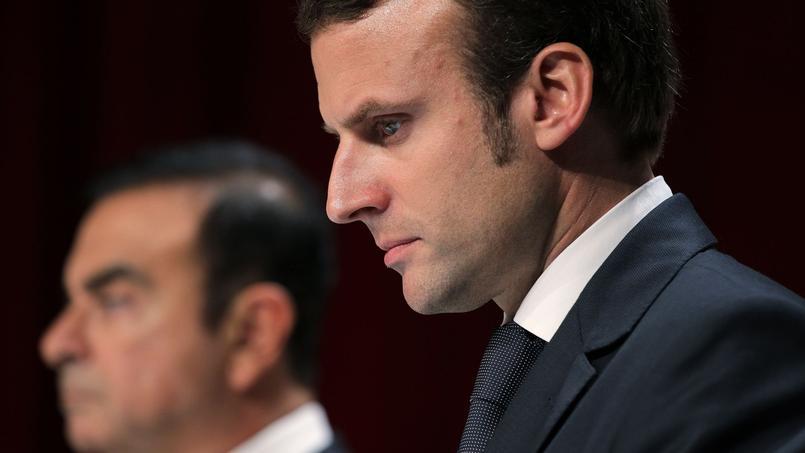 Emmanuel Macron aux côtés de Carlos Ghson, PDG de Renault