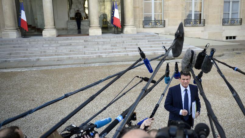 Manuel Valls à l'Élysée, le 23 octobre 2013.