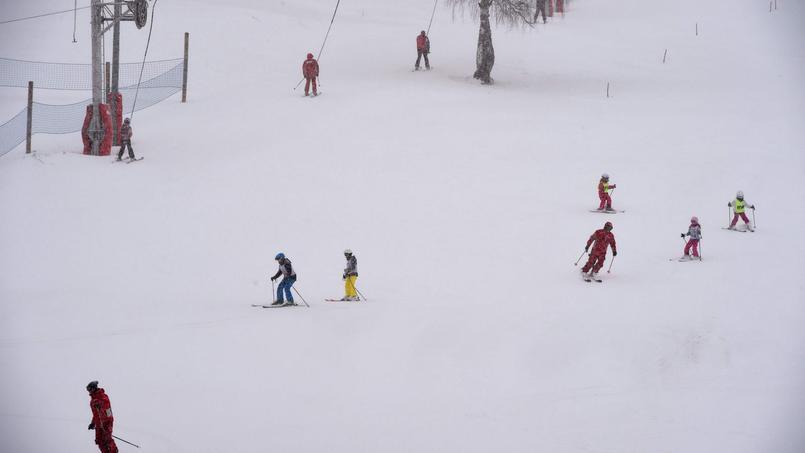 Station de ski Les Deux Alpes (Isère), le 14 janvier.