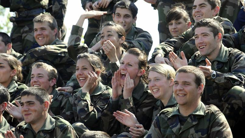 Jeunes réservistes de la gendarmerie nationale.