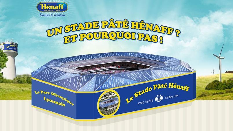 Pâté Hénaff a proposé son nom pour le grand stade de l'Olympique Lyonnais.