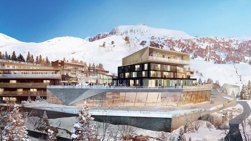 Image d'architecte de la future station de Chamrousse, en 2030.