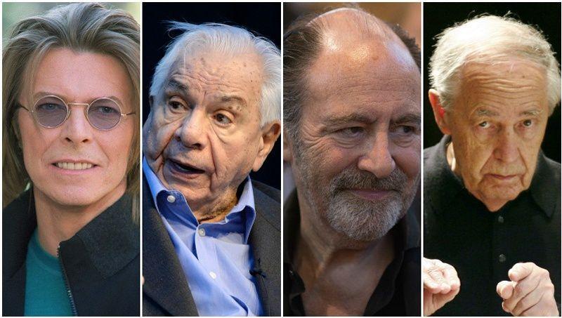 David Bowie, Michel Galabru, Michel delpech et Pierre Boulez font partie des nombreux artistes décédés début 2016.