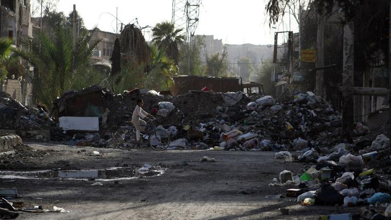 La ville de Deir ez-Zor, ici en mars 2014, constitue l'un des fiefs de Daech en Syrie.